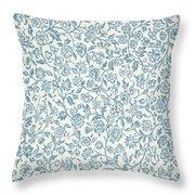 Merton Wallpaper Design Throw Pillow
