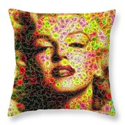 Marilyn - Colored Diamonds Throw Pillow