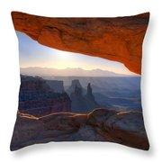 Mesa Arch Canyonlands National Park Throw Pillow
