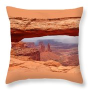 Mesa Arch In Canyonlands National Park Throw Pillow