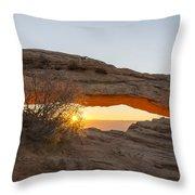 Mesa Arch Sunrise 3 - Canyonlands National Park - Moab Utah Throw Pillow