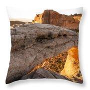 Mesa Arch Sunrise 6 - Canyonlands National Park - Moab Utah Throw Pillow