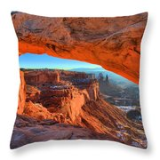 Mesa Sunrise Glow Throw Pillow