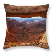 Mesa Sunrise Window Throw Pillow