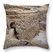 Mesa Top Pit House-900-1100 Ad  On Chapin Mesa Top Loop Road In Mesa Verde National Park-colorado Throw Pillow