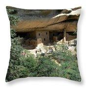 Mesa Verde Cliff Dwellings  Throw Pillow