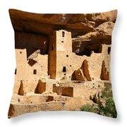 Mesa Verde National Park Cliff Palace Pueblo Anasazi Ruins Throw Pillow
