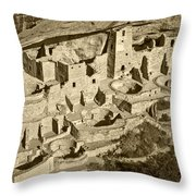 Mesa Verde National Park In Colorado Throw Pillow