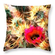 Mesh Of Cactus Needles Throw Pillow