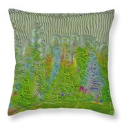 Meshed Tree Abstract Throw Pillow