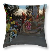 Mesilla Nm Cemetery 14  Throw Pillow