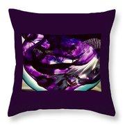 Mesmerize Purple II Throw Pillow