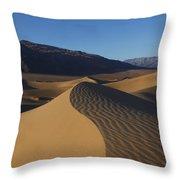 Mesquite Dunes Death Valley 1 Throw Pillow