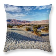 Mesquite Flat Dunes Throw Pillow