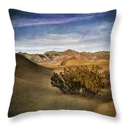 Mesquite Flat Sand Dunes Death Valley Img 0080 Throw Pillow