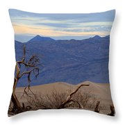 Mesquite Flat Sand Dunes Stovepipe Wells Death Valley Throw Pillow
