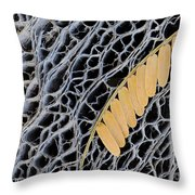 Mesquite Leaves Throw Pillow