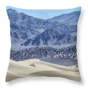 Mesquite Sand Dunes Throw Pillow