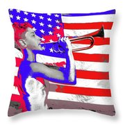 Mess Call Methodist  Service  At Camp Nathan Hale Southfields New York 1943-2014   Throw Pillow