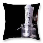 Message In A Bottle Concept Throw Pillow