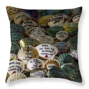 Messages On Shells Throw Pillow