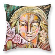 Messenger Of Peace And Possibility Throw Pillow