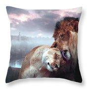 Yeshua Loves Israel Throw Pillow
