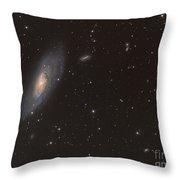 Messier 106 Spiral Galaxy Throw Pillow