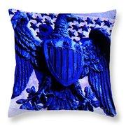 Metal American Eagle Symbol Throw Pillow