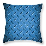 Metal Background Throw Pillow by Carlos Caetano
