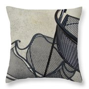 Metal Chair And Shadow 5 Throw Pillow