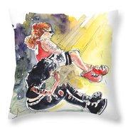 Metal Chicks Throw Pillow