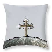 Metal Cross Throw Pillow