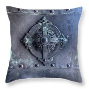 Metal Door Throw Pillow