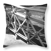 Metal Fence Cologne Germany Throw Pillow