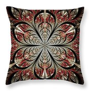 Metal Flower Throw Pillow