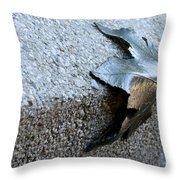 Metal Leaf Throw Pillow
