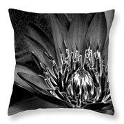Metal Lotus Throw Pillow