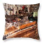 Metal Machine Shop Throw Pillow