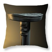 Metal Nail Isolated Throw Pillow by Allan Swart