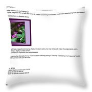 Metal Pictures Read Me Throw Pillow
