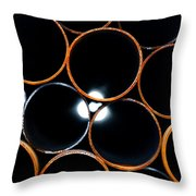 Metal Pipes Throw Pillow