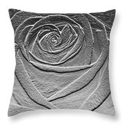 Metal Rose Throw Pillow