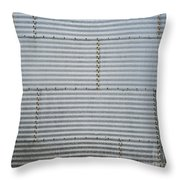 Metal Silo With Door Throw Pillow