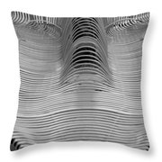 Metal Strips In Balck And White Throw Pillow