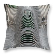 Metal Strips Throw Pillow