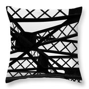 Metal Structure Throw Pillow