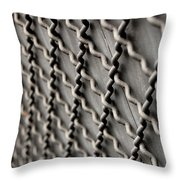 Metal Texture Forms Throw Pillow