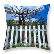 Metal Art Tree Bisbee Throw Pillow