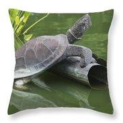 Metal Turtle Throw Pillow